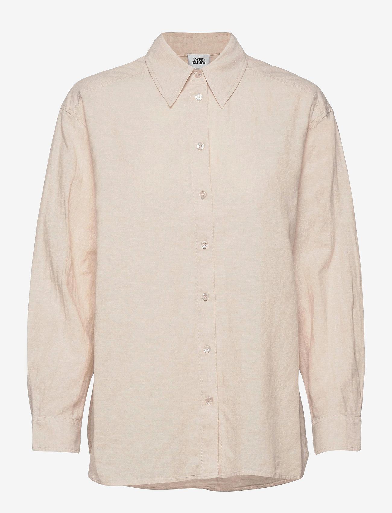 Twist & Tango - Sara Shirt - långärmade skjortor - neutral beige - 0
