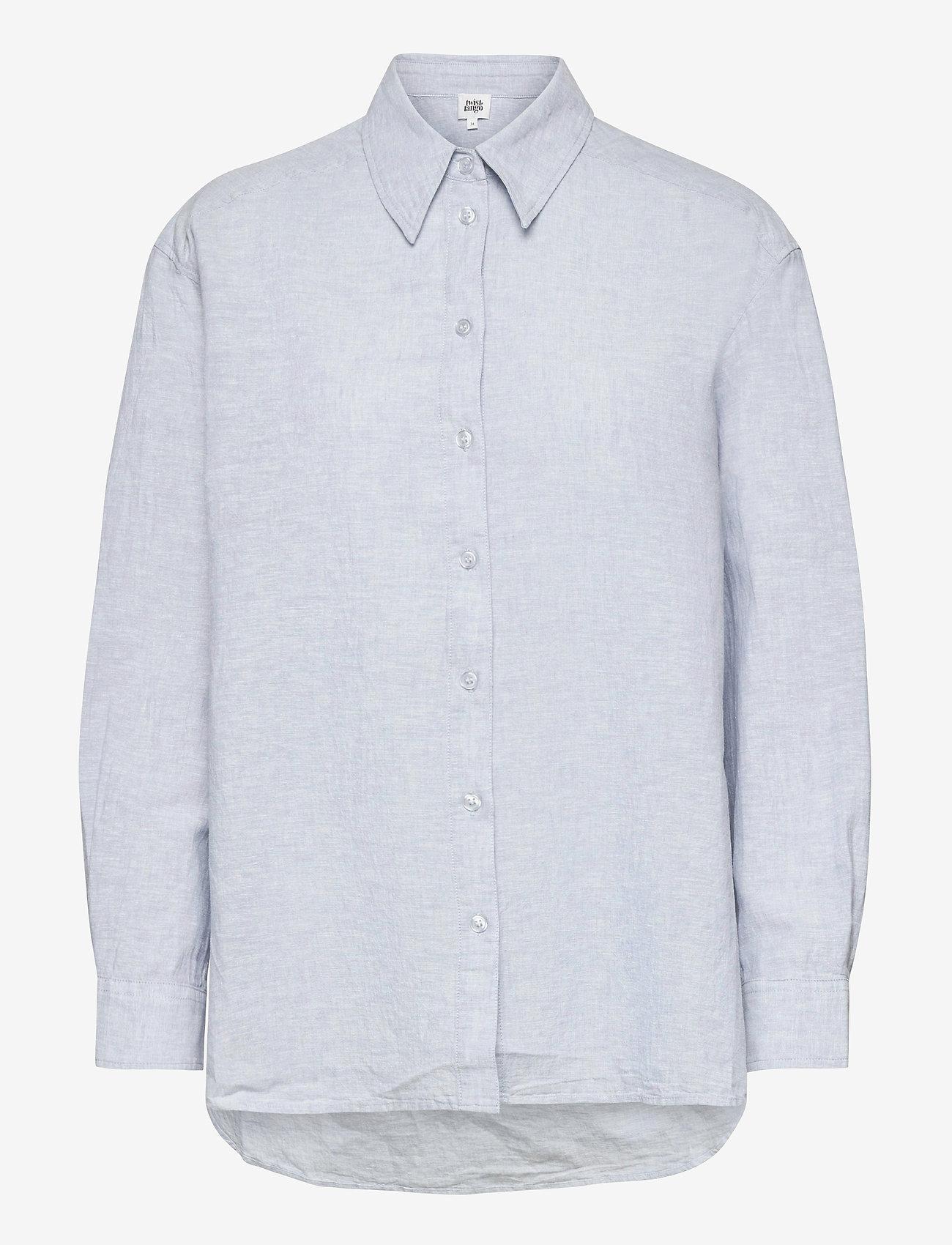 Twist & Tango - Sara Shirt - långärmade skjortor - ice blue - 0