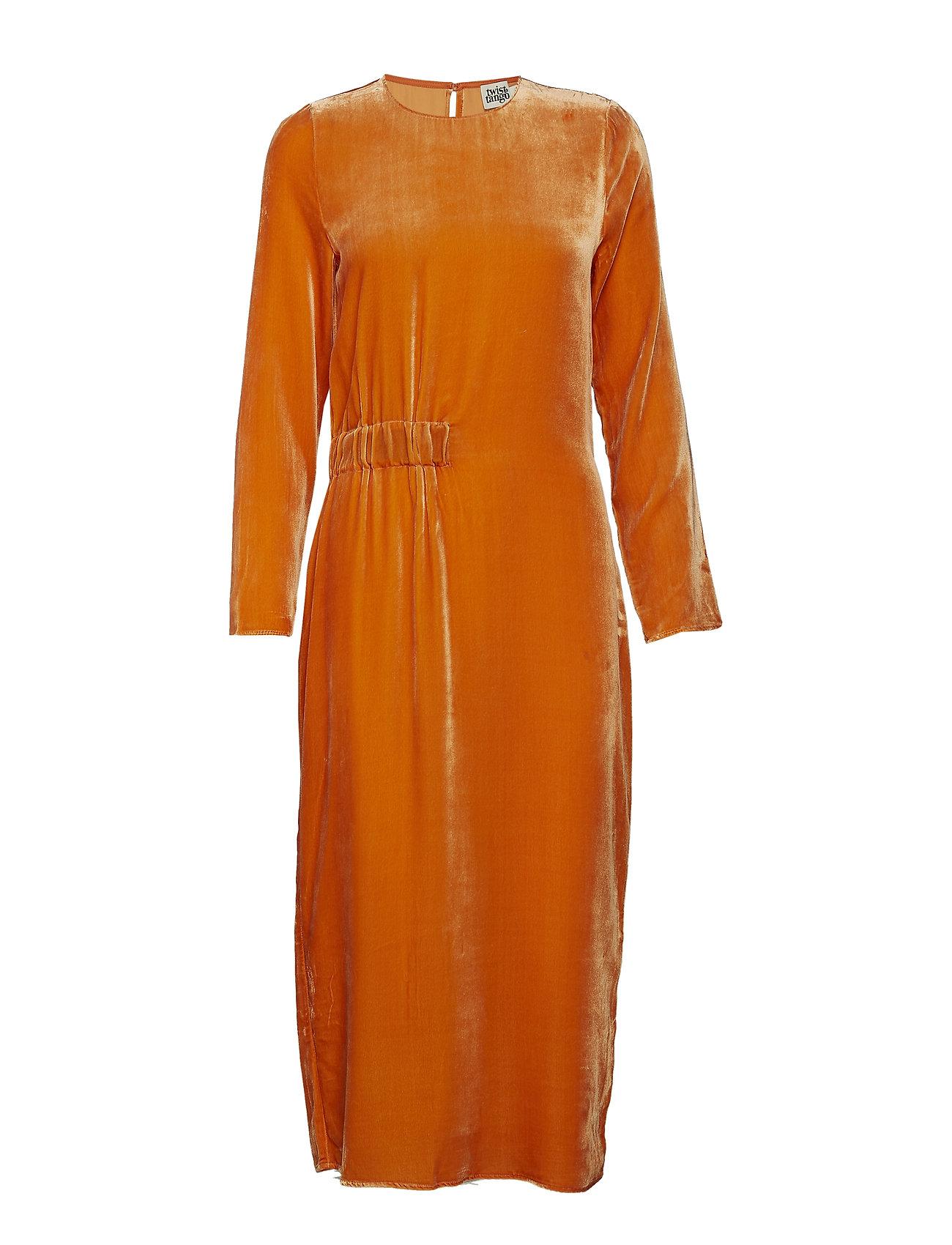 Twist & Tango Vera Velvet Dress - ORANGE