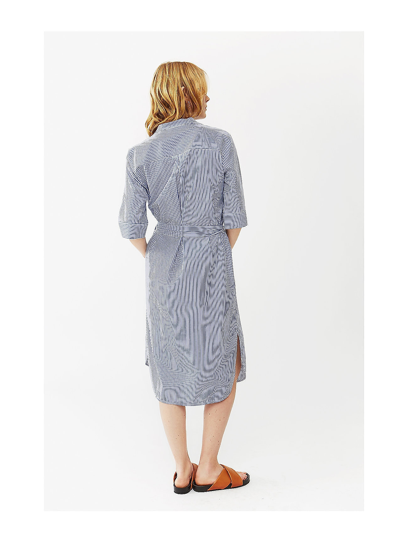 white StripeTwistamp; Eva Shirt Dressblue Tango OXw8nk0P