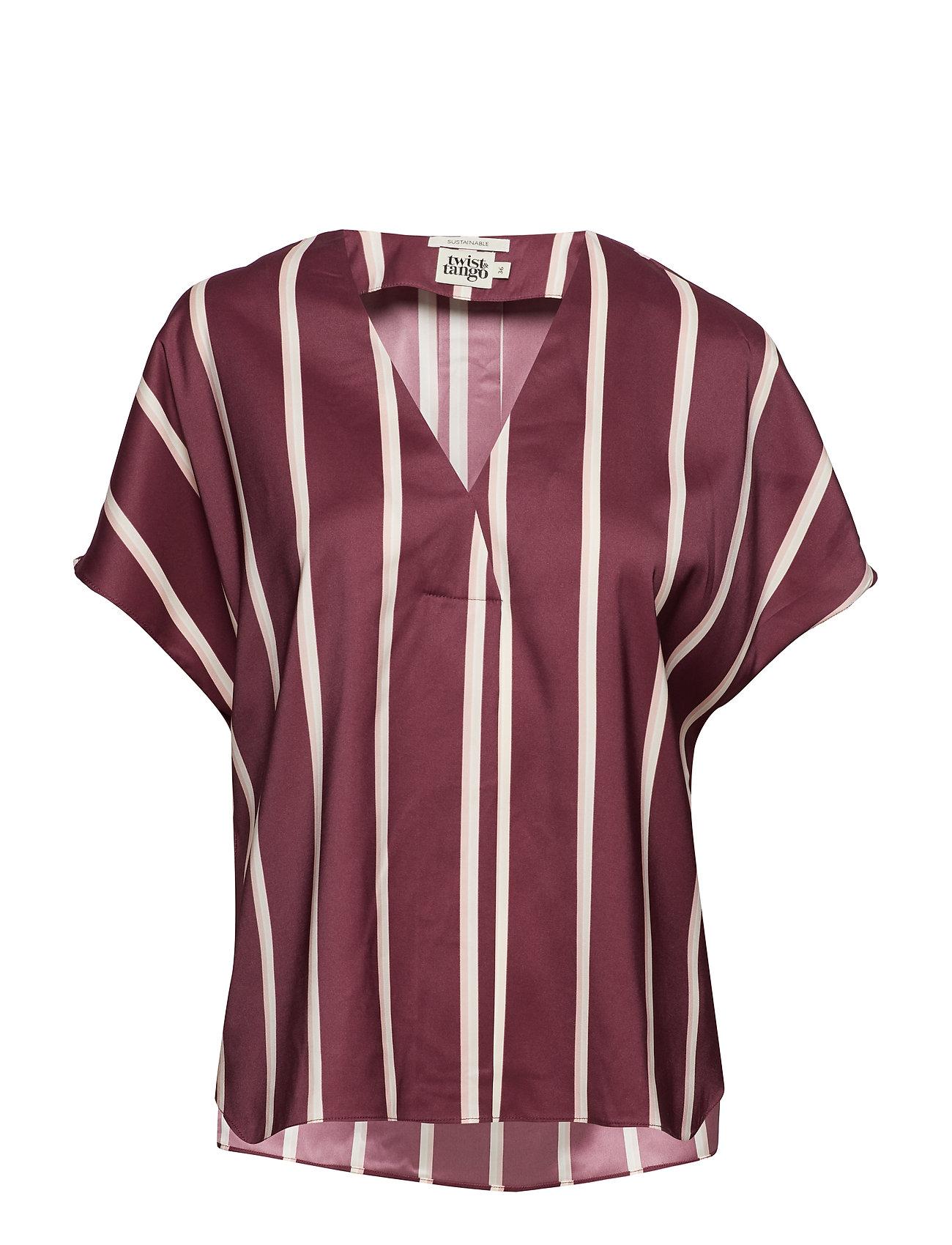e5466146 Tatiana Blouse Burgundy (Burgundy Stripe) (649.35 kr) - Twist ...