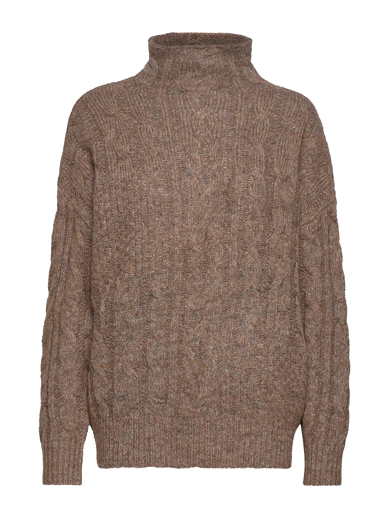 Twist & Tango Marianna Cable Sweater - BROWN MéLANGE