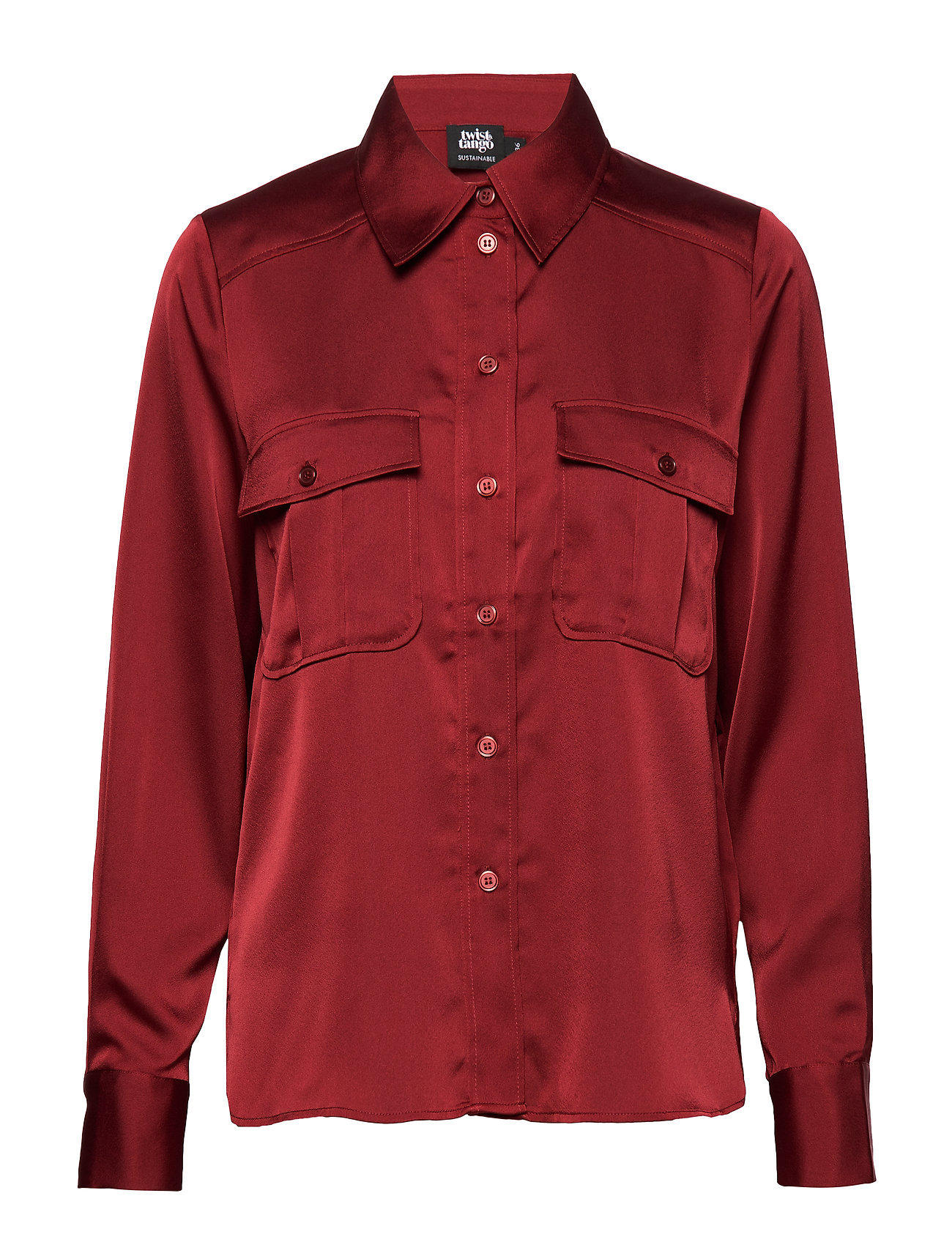 Twist & Tango Penelope Pocket Shirt - WINE