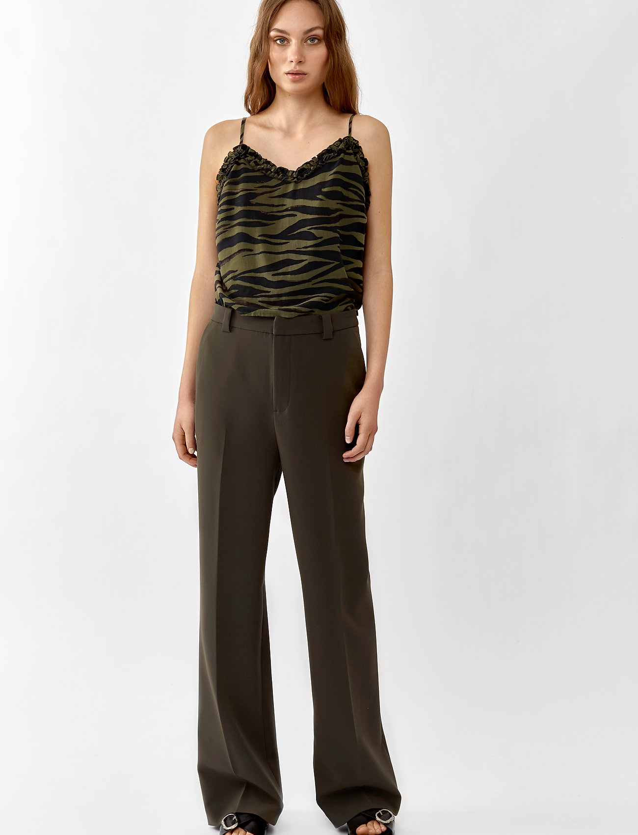 Twist & Tango - Victoria Trousers - bukser med brede ben - dark khaki - 0