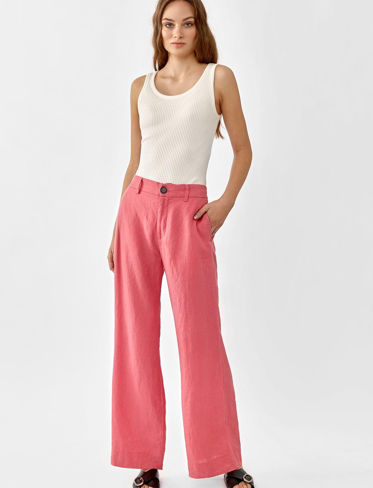 Twist & Tango - Maria Trousers - bukser med brede ben - pink - 0