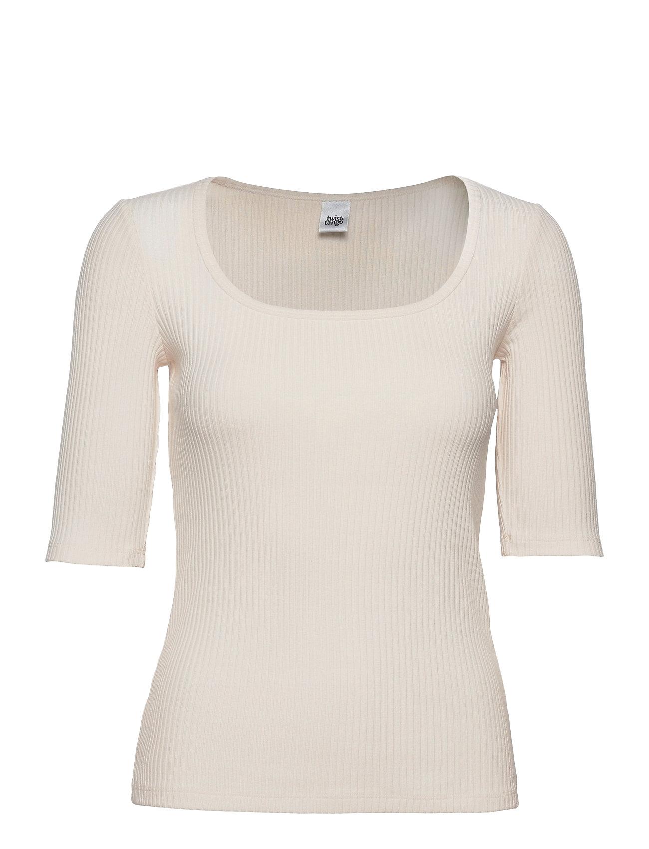 Carrie Top T-shirt Top Creme Twist & Tango