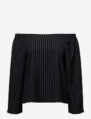 Twist & Tango - Willow Blouse - långärmade blusar - navy pin stripe - 0