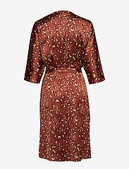 Twist & Tango - Georgina Dress Mini - omlottklänningar - terracotta leo - 2