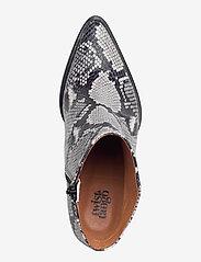 Twist & Tango - Dallas Boots - ankelstøvler med hæl - grey snake - 3