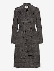 Twist & Tango - Loretta Coat - wełniane płaszcze - graphic check - 0