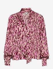 Twist & Tango - Lynda Blouse - långärmade blusar - safari pink print - 0