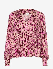 Twist & Tango - Lynda Blouse - långärmade blusar - safari pink print - 2
