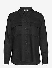Twist & Tango - Claudia Shirt - långärmade skjortor - black - 0