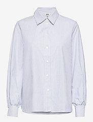 Twist & Tango - Sophie Stripe Shirt - långärmade skjortor - ice blue stripe - 0