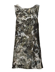 Grace Dress - GREEN CLOUD PRINT