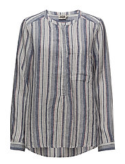 Bella Shirt - NAVY STRIPE