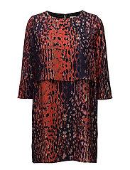 Sasha Dress - WINE LEOPARD