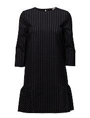Malina Dress - NAVY PIN STRIPE