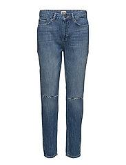 Sarah Jeans - MID BLUE CUT