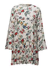 Bernice Dress - WHITE GARDEN FLOWER