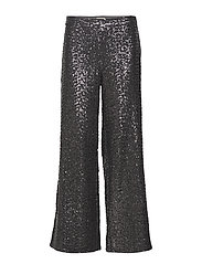 May  Sequin Trousers - GUN METAL