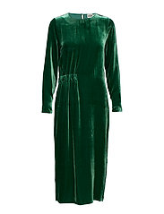 Vera Velvet Dress - DARK GREEN