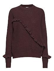 Sonja Frill Sweater - PURPLE