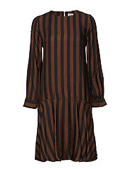 Erika Dress - BROWN