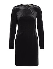 Ellie Velvet Dress - BLACK