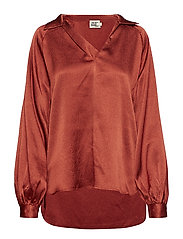 Roxana Blouse - DARK RUST