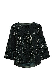 Unni Sequin Top Navy XS - GREEN