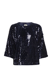 Unni Sequin Top Navy XS - NAVY