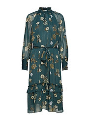 Eden Dress Green Botanical