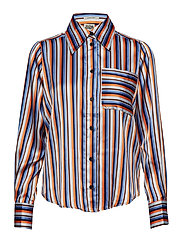 Nathalie Shirt Orange Stripe - ORANGE STRIPE