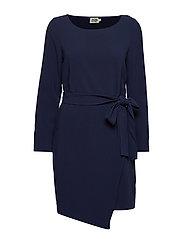Adele Dress Blackish Blue - BLACKISH BLUE