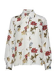 Isolde Shirt White Botanical - WHITE BOTANICAL