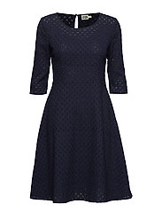Ariadne Dress Blackish Blue - BLACKISH BLUE