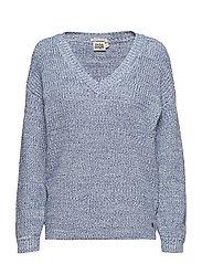 Semra V-neck Sweater - OCEAN