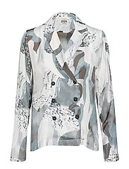 Polly Shirt - BEIGE MARBLE