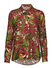 Philippa Shirt - BRICK FLAMINGO