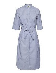 Eva Shirt Dress - BLUE/WHITE STRIPE