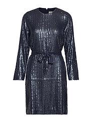 Britta Sequin Dress - NAVY