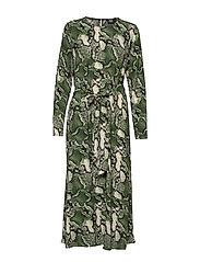Isabel Dress - GREEN SNAKE