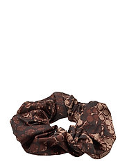 Belle Scrunchie - BROWN SNAKE