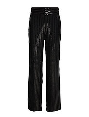 Judi Sequin Trousers - BLACK
