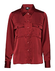 Penelope Pocket Shirt - WINE