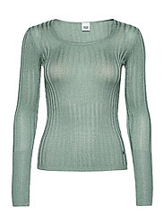 Beatrix Lurex Top - SOFT JADE