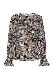 Doris Blouse - GRAPHIC DOGDSTOOTH