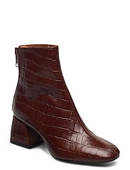 Madrid Boots - BROWN CROCO