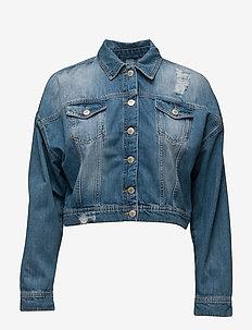 Jila Jacket - denim jackets - mid blue denim